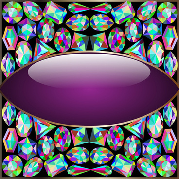 precious stones and diamonds shiny background