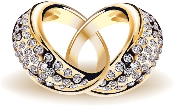 precious wedding ring 01 vector