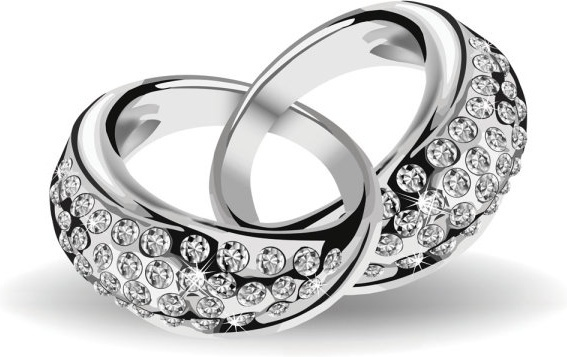 precious wedding ring 02 vector