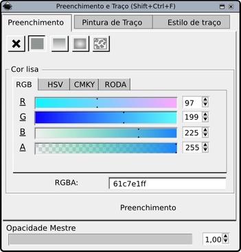 Preenchimento Inkscape clip art