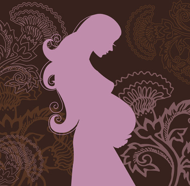 pregnant woman design elements vector set