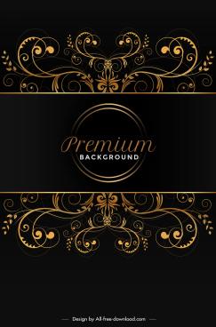 premium background symmetric curves elegant dark decor