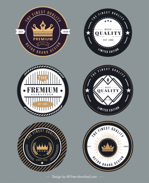 premium badge templates luxury flat circle decor