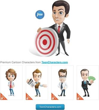 premium cartoon characters vector