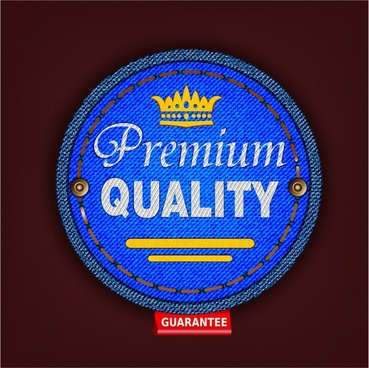Premium quality fabric badge