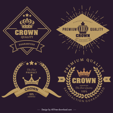 premium quality label templates dark elegant retro decor
