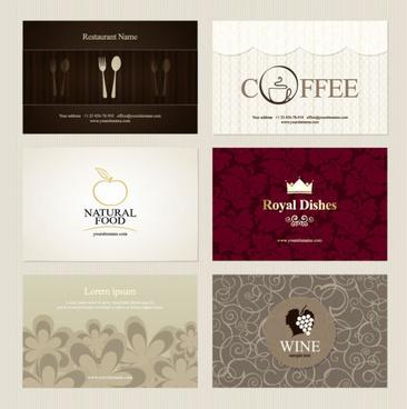 presentation of creative coffee cards design elements vector
