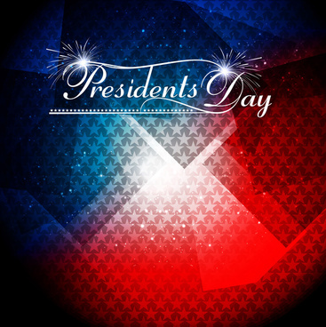 presidents day american independence day stars in american flag background vector