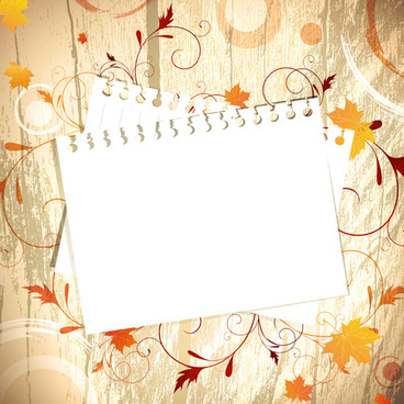 pretty autumn backgrounds art vector