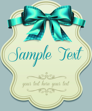 pretty bows cards vector graphic