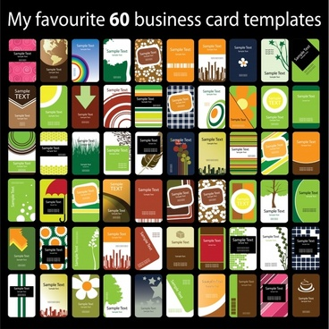 business cards templates collection colorful modern themes