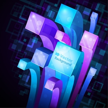 pretty cubes background vector