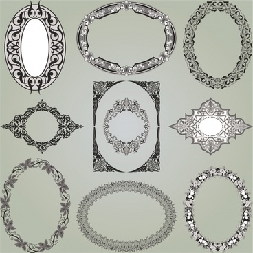 decorative frame templates elegant european classic shapes