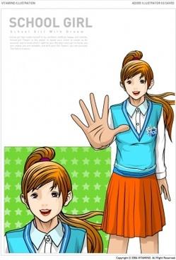 pretty female student vector