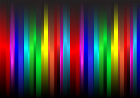 pretty rainbow background vector set