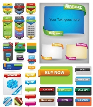 price banner with website button colored vector