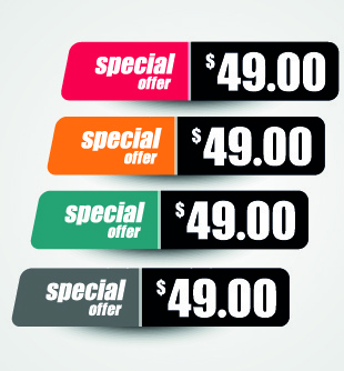 price sticker design vector