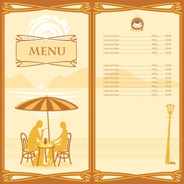 price tag vector cartoon menus