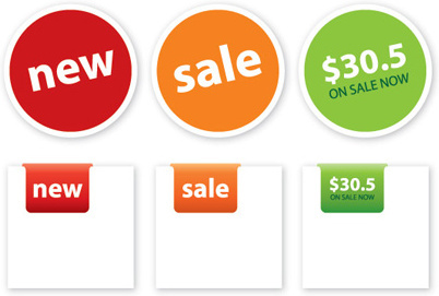 price tags vector graphic