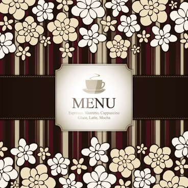 prime pattern menu cover 04 vector