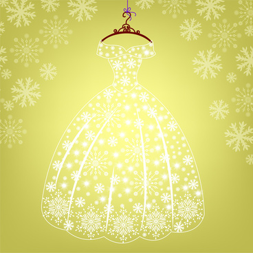 princess dress glowing