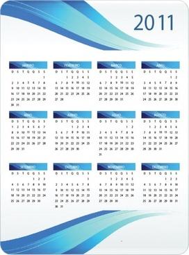 Printable 2011 Calendar Vector