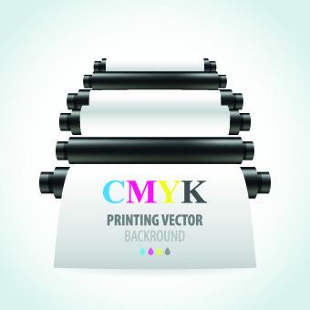 printer cmyk design vector