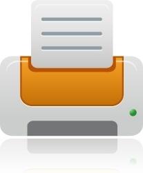 Printer orange