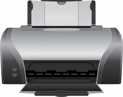 printer icon 3d modern realistic design