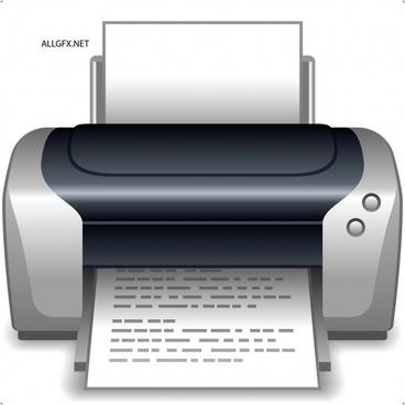 printer icon modern realistic 3d design