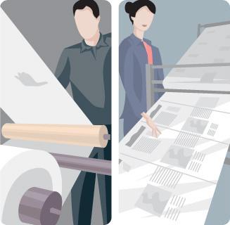 printing vector scene