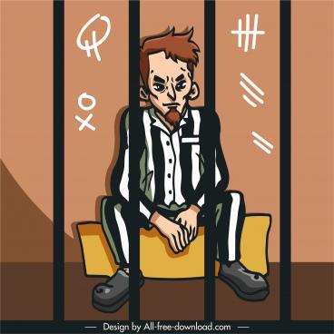 prison icon prisoner sketch