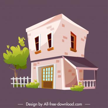 private house template classic decor 3d sketch