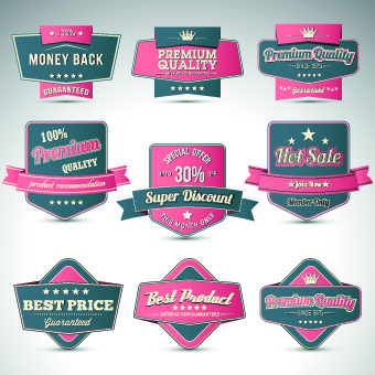 product elements labels vector