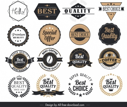 product label templates classical geometric shapes design