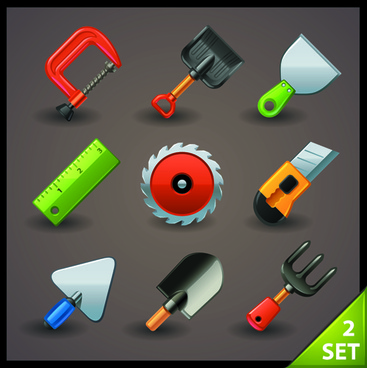 production tools creative vector set