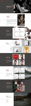 professional style agency psd homepage template