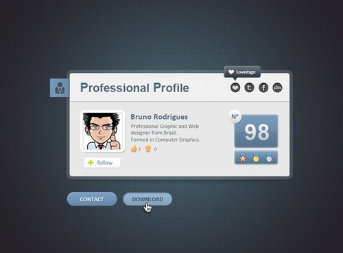 Professional Web Card Profile