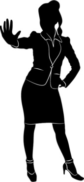 professional women vector silhouettes set