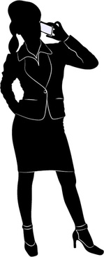 professional women vector silhouettes set