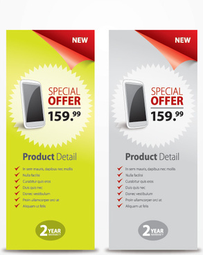 promo banners vector graphic