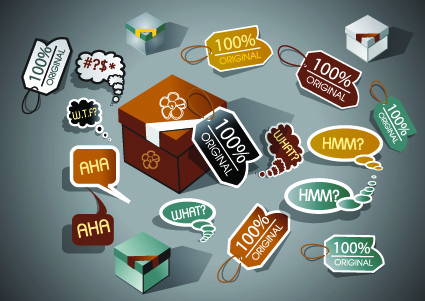 promotion stickers and tags vector