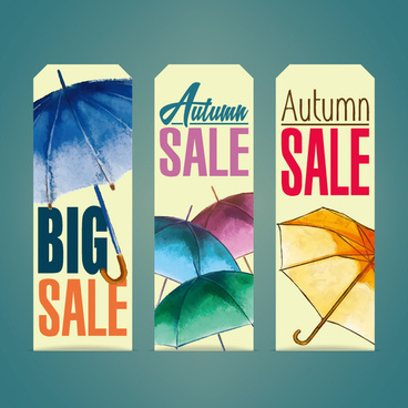 promotion umbrella decoration vector banner