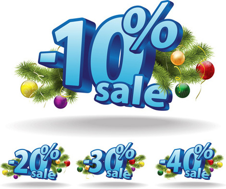 promotional discounts 3d background vector
