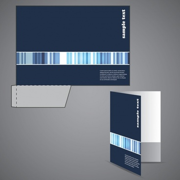 brochure cover template modern barcode decor 3d sketch