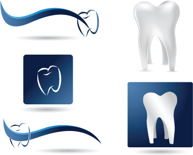 Protect teeth design elements vector graphics