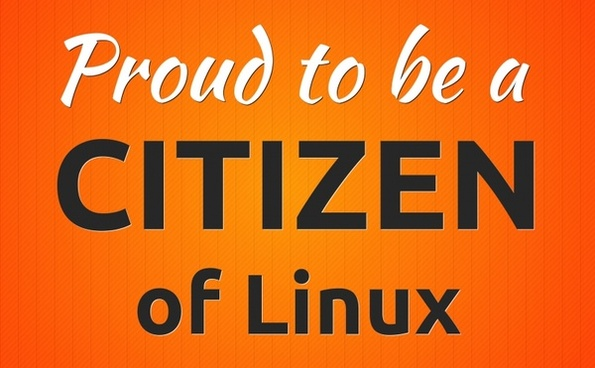 proud to be a citizen of linux