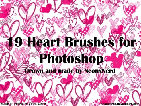 PS Brushes Set 1 – Hearts