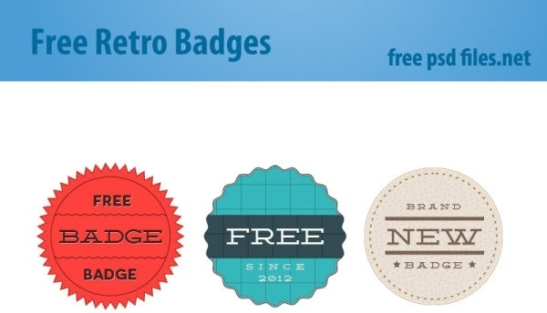 psd layered retro badge