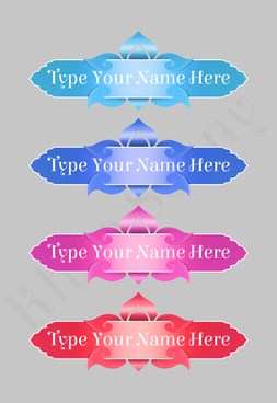 psd sticker are use for name or product name